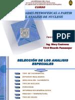 Curso de Analisis Especiales de Nucleos