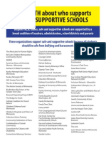 Who Supports Safe and Supportive Schools?
