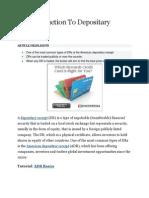 An Introduction to Deposadr gdritary Receipts