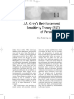 J.A. Gray's Reinforcement Sensitivity Theory (RST) of Personality