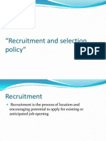 Recruitment and Selection Policy in Nahar