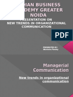 New Trends in organizational communication