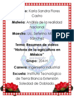 Flores C. Karla S. Historia de La Agricultura en Mexico