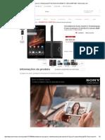 Smartphone Sony Xperia C Desbloqueado Preto Android 4.2 3G_Wi-Fi Câmera 8MP 4GB - Americanas
