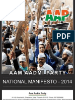 Aap Manifesto 2014 - Text Only - Ocr Version