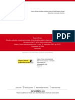 Estudios culturales, transdisciplinariedad  e interdisciplinariedad (¿hegemonismo en las ciencias  s
