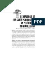A emergência de um saber psicológico e as políticas de inviduação