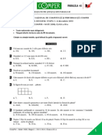 Subiect Matematica EtapaI 13-14 ClasaIII