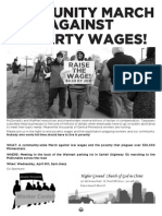 St. Cloud March Against Poverty Wages Flyer