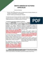 PROCEDIMIENTO EMISIÓN DE FACTURAS ESPECIALES