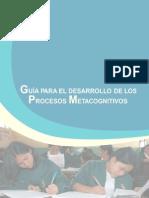Guia Para El Desarrollo de Procesos Metacognitivos