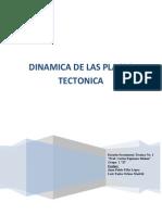 Dinámica de las Placas Tectónica