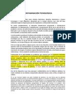 CONTAMINACIÓN TECNOLÓGICA