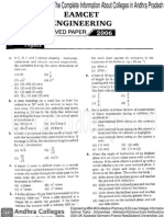 Eamcet 2006 Engineering Paper