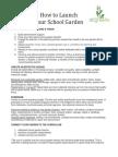 How to Launch Your School Garden