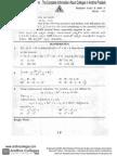 Eamcet 2009 Engineering Maths Paper