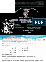 Metodo de Gauss-jordan