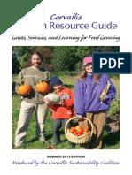 Corvallis Garden Resource Guide
