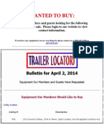 Wanted to Buy Ads - April 2, 2014