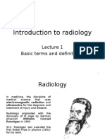 Radiology Lecture - 01