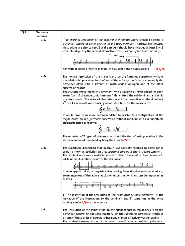 Chromatic Harmony Marking Scheme | Chord (Music) | Harmony