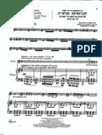 Achron Hebrew Melody Score