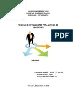 Informe técnicas e instrumentos para la toma de decisiones2