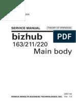 KONICA MINOLTA BizHub 163, 211, 220 Theory of Operation Service Manual