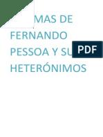 POEMAS DE FERNANDO PESSOA Y SUS HETERÓNIMOS