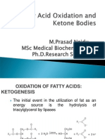 Fatty Acid Oxidation & Ketone Bodies