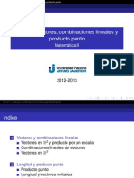 001 Vectores y Combinaciones Lineales Presentacion