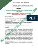 Actividad Fisica y Juventud en El Franquismo (1937-1961)