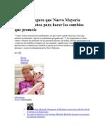 1 de diciembre de 2013 Bachelet asegura que Nueva Mayoría tendrá los votos para hacer los cambios que promete.docx