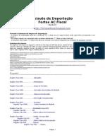 Manual de Importação Fortes AC Fiscal v.82