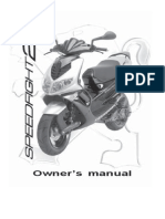 Peugeot 100 Speedfight 2 Owners Maintenance Manual