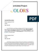 Curriculum Project Due Week 7