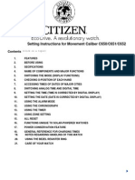 Citizen Instruction Manual C652
