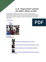 1 de diciembre de 2013 Tarud califica de improcedente petición de intervención militar chilena en Haití.docx