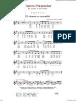 El Viento Se Escondio - Cantos de Presencias de Musica