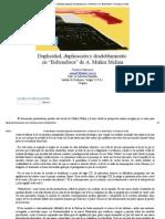 Duplicidad, duplicación y desdoblamiento en Beltenebros de A. Muñoz Molina