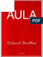 Roland Barthes - Aula