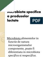 Microbiota Specifica a Produselor Lactate
