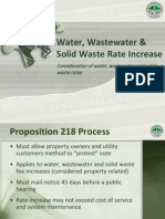 Water, Wastewater & Solid Waste Rate Increase