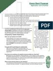 4 3 green boot program checklist