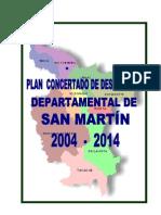 Plan Concertado de Desarrolllo Departamnetal de 2004-2014