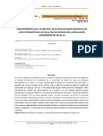 CARACTERÍSTICAS DE LA PRÁCTICA DE ACTIVIDAD FÍSICO-DEPORTIVA DE LOS ESTUDIANTES DE CIENCIAS DE LA EDUCACION (SEVILLA)