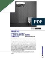 revista pedagógica - procesos pedagógicos escolares en artes escenicas