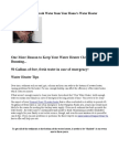 50 Gallons of Free, Fresh Water from Your Home's Water Heater