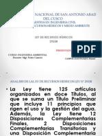 Analisis de La Ley de Recursos Hidricos Ley 29338