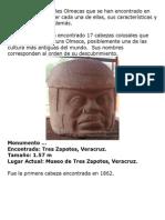Las Cabezas Colosales Olmecas que se han encontrado en México